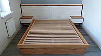 Кровать  Рива. . Имеет металлическое обрамление изголовья и вместительные прикроватные тумбы., фото 1
