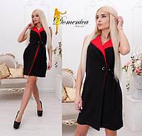 Нарядное двухцветное платье-пиджак в расцветках h-t31032742