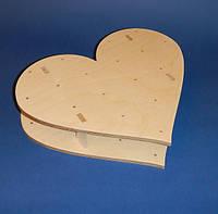 Сердце подставка для капкейков заготовка для декупажа и декора