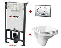 Система інсталяції AlcaPlast A101/1200 Alcamodul + Унітаз підвісний Cersanit EASY з вільнопадаючим сидінням