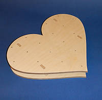 Сердце подставка для конфет, тортов,капкейков заготовка для декупажа и декора