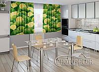 """ФотоШторы для кухни """"Лимоны"""" 1,5м*2,5м (2 половинки по 1,25м), тесьма"""