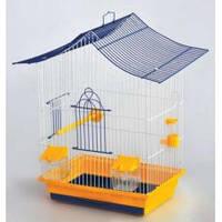 """Клетка """"Мини-3""""для птиц, 33х23х47 см, никель"""