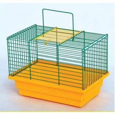 Клетка ПТАШКАдля попугаев, 28х18х21 см, цинк