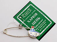 Серебряная булавка с эмалью Кораблик, фото 1