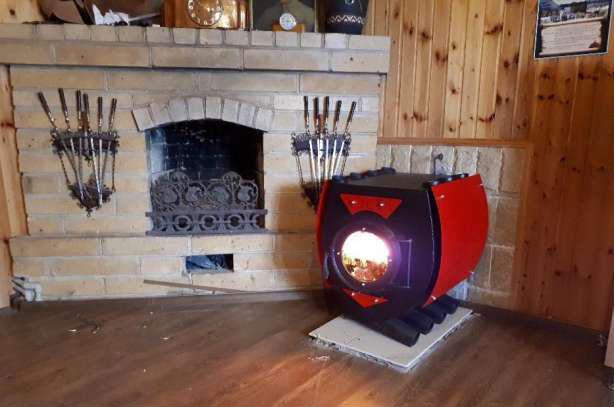 Печь булерьян с колосниками и зольником