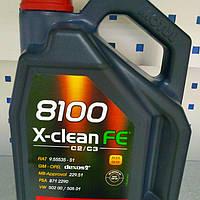 🌟Масло моторне синтетичне 8100 X-Clean FE 5W30 5L (MOTUL), фото 1