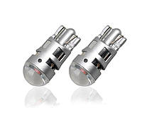 Светодиодная лампа цоколь Т10 (W5W) 1-SMD 3030, линза, 180lm, 12В