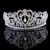 Диадема свадебная высокая Тиара корона Фиона Тиара Виктория свадебная Корона