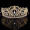 Диадема свадебная Тиара Фиона голд корона высокая золотая украшения для волос короны диадему