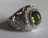 """Крупный  перстень """"Граф"""" с зеленым  сапфиром , размер 18.9  студия LadyStyle.Biz"""