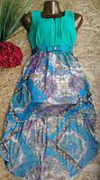 Платье+пояс со шлейфом 2172 44-46р мята