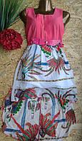 Платье+пояс со шлейфом 2172 44-46р корал