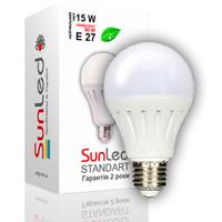 """Светодиодная лампа """"SUNLED"""" Standart """"SUNGI"""" 15Вт E27"""