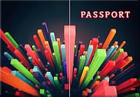Обложка обкладинка на паспорт Абстракт прямоугольники України Украина Pasport