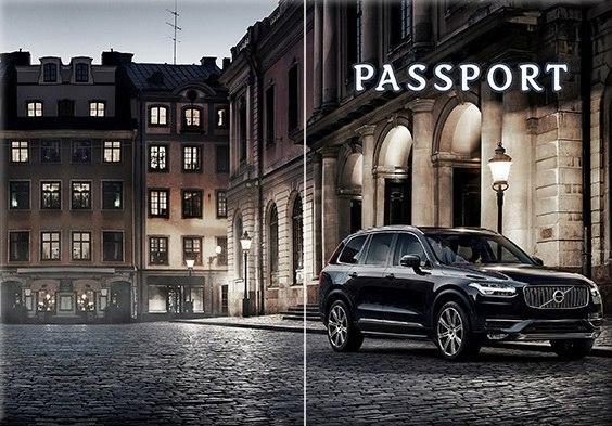 Обложка обкладинка на паспорт авто Volvo автомобиль України Украина Pasport