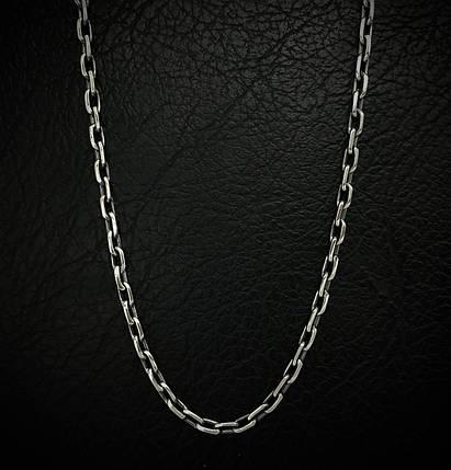 Серебряная цепочка, 450мм, 8 грамм, якорное плетение, фото 2