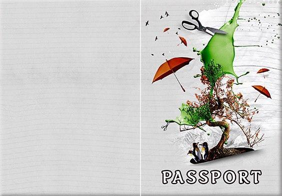Обложка обкладинка на паспорт Абстракт осень abstract України Украина Pasport