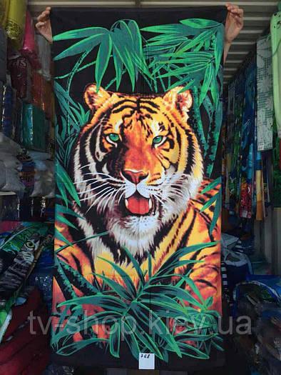 """Полотенце пляжное  """" Тигр"""""""