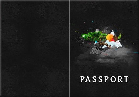 Обложка обкладинка на паспорт эйфелева башня tower eiffel України Украина Pasport