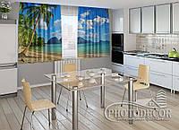 """ФотоШторы для кухни """"Пляж"""""""