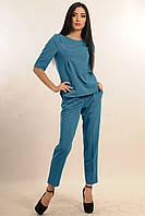 Прямые брюки классического кроя, зауженные, со стрелками, с современной и модной длиной - по щиколотку
