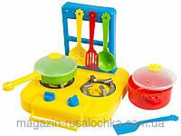 Набір іграшкового посуду столовий Ромашка з плиткою 7 елементів Тигрес 39150