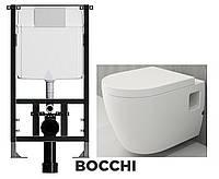 Система інсталяції BOCCHI 120 + унітаз Classico Lavita + вільнопадаюча кришка
