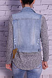 Жилет женский джинсовый стильный (код 001), фото 3