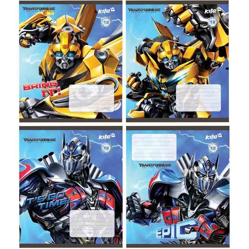 Тетрадь, Transformers, 12 листов, клетка, TF17-232