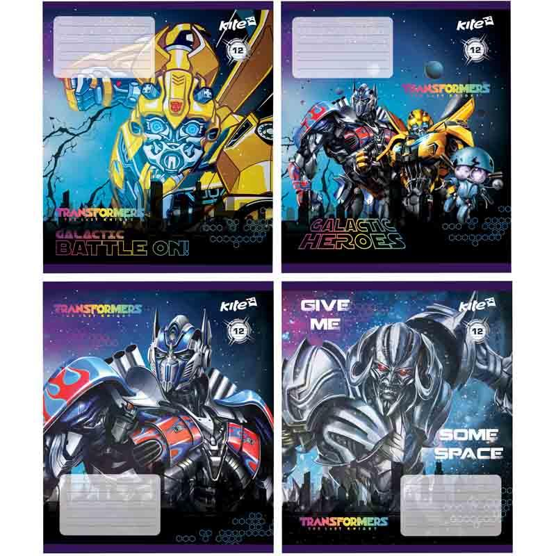 Тетрадь, Transformers, 12 листов, линейка,TF17-234