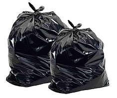 Мешки полиэтиленовые чёрные для упаковки товара 65х100, 100 мкм