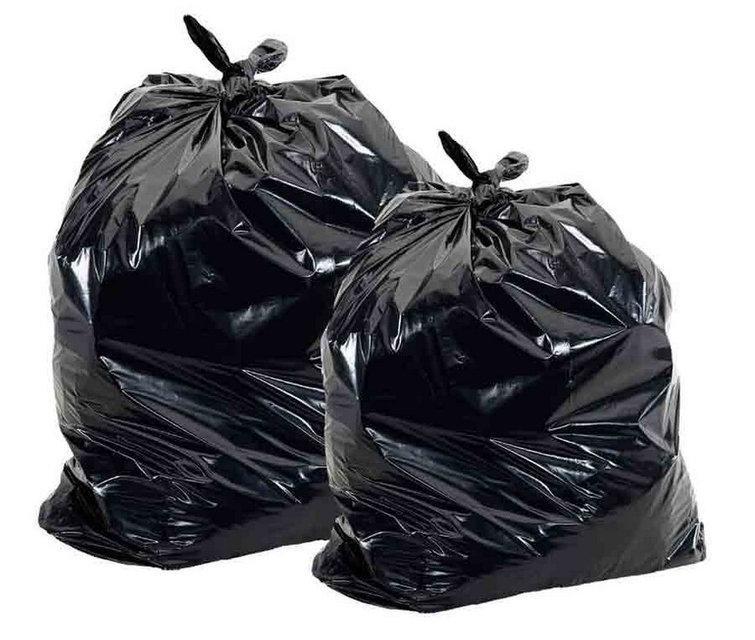 Мешки полиэтиленовые чёрные для упаковки товара 65х100, 55 мкм