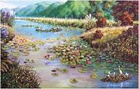 """Картина по номерам """"Горная речка"""" (алмазная мозаика)"""