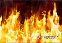 Обложка обкладинка на паспорт огонь України Украина Pasport