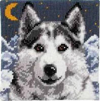 "Картина для рисования камнями ""Волк"""