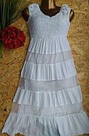 Платье из хлопка Мария 9514-6008 42-46р белый