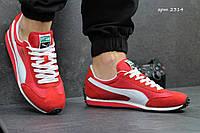 Мужские кроссовки Puma Whirlwind, замша + плащевка, красные / кроссовки для зала мужские Пума Ворланд