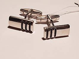 Серебряные запонки с эмалью
