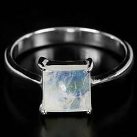 """Хорошенькое кольцо с   и лунным камнем """"Квадрат"""" , размер 18.6  от студии LadyStyle.Biz, фото 1"""