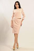 Повседневная женственная юбка-карандаш с высокой посадкой и длиной до колена 42-52 размеры