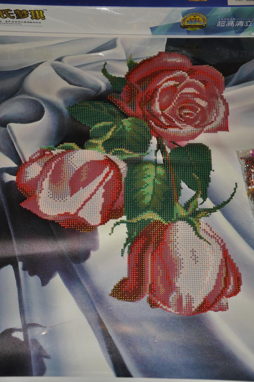 Красные розы алмазная вышивка