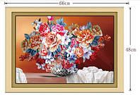 "Вышивка камнями ""Натюрморт вазочка с цветами"""