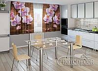 """ФотоШторы для кухни """"Орхидеи и дерево"""""""