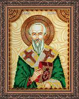 Набор для вышивки бисером именной иконы  «Святой Рустик (Руслан)»