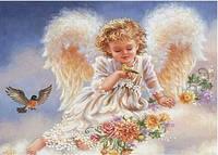 """Набор алмазной вышивки """"Ангелочек на облаках"""""""