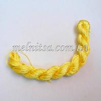Нейлоновый шнур, 25м, толщина 1 мм, цвет св.желтый