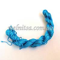 Нейлоновый шнур, 25м, толщина 1 мм, цвет темно-голубой