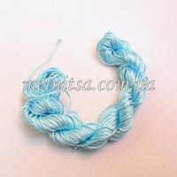 Нейлоновый шнур, 25м, толщина 1 мм, цвет голубой