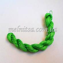 Нейлоновий шнур, 25м, товщина 1 мм, колір зелений